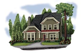 House Plan 72643 Elevation