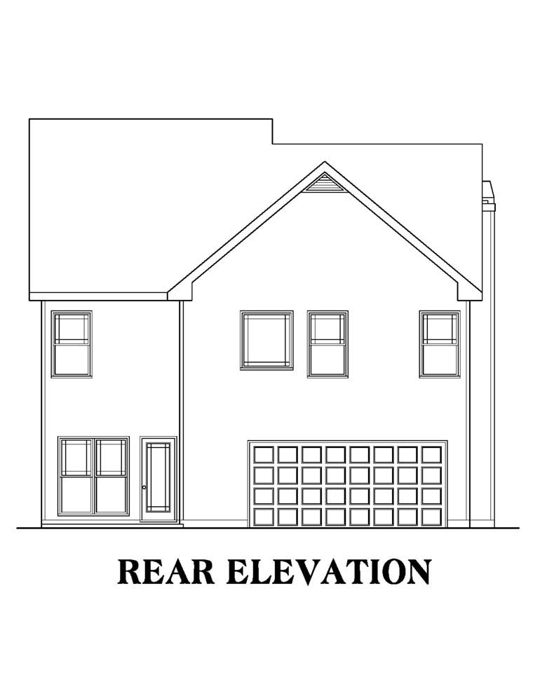 House Plan 72643 Rear Elevation