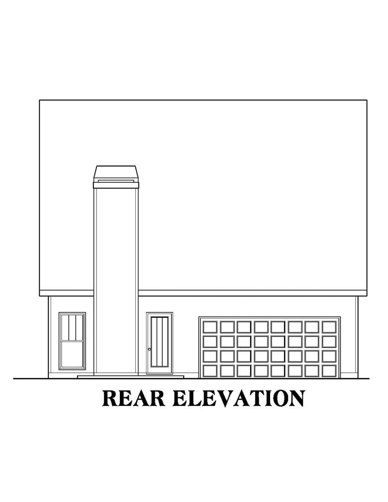 House Plan 72644 Rear Elevation