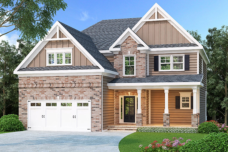 House Plan 72645 Elevation