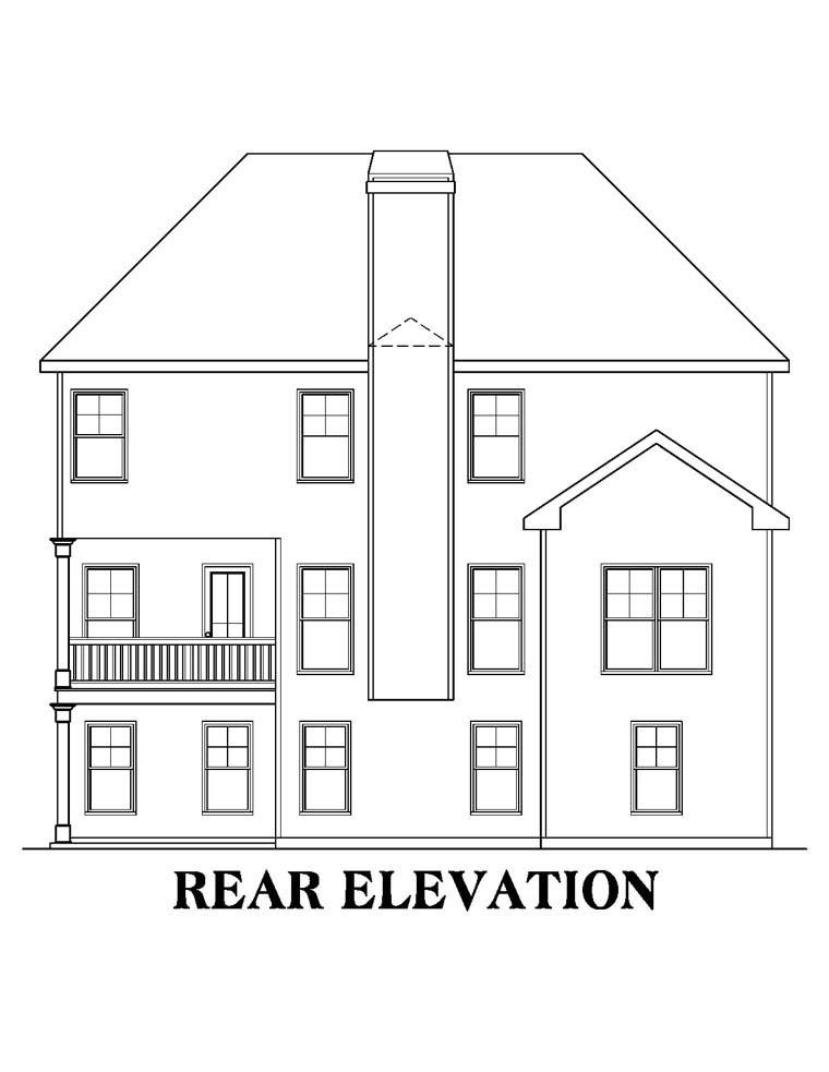 House Plan 72645 Rear Elevation