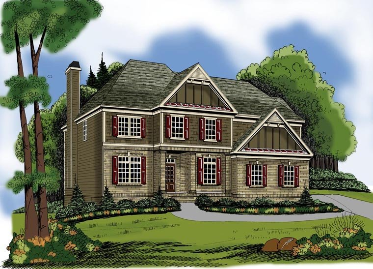 House Plan 72647 Elevation