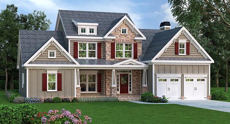 House Plan 72648 Elevation