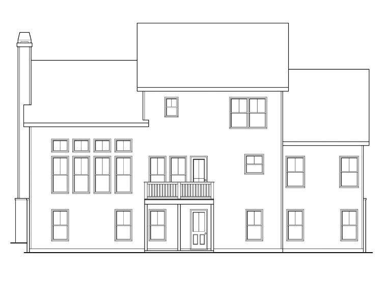 House Plan 72648 Rear Elevation
