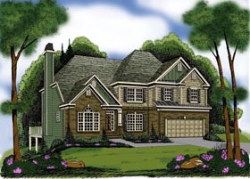 House Plan 72649 | Style Plan with 2763 Sq Ft, 4 Bedrooms, 4 Bathrooms, 2 Car Garage Elevation