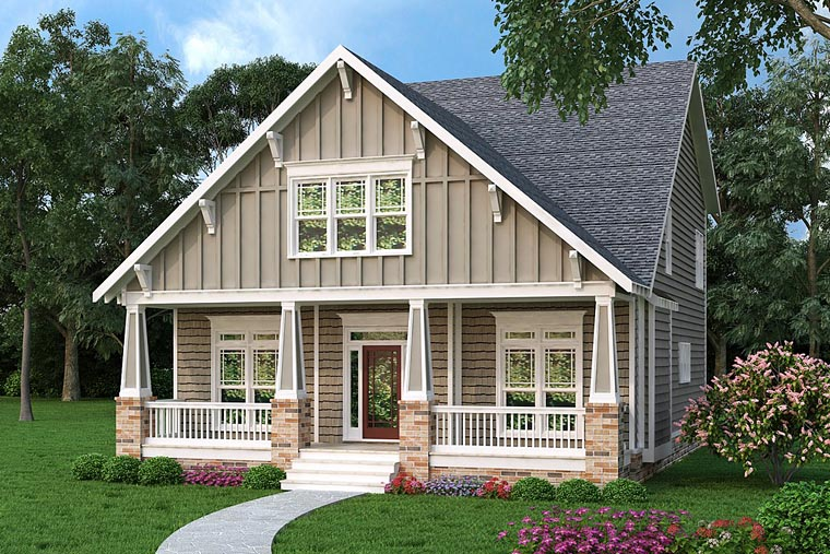Bungalow Cottage Country Craftsman House Plan 72653 Elevation