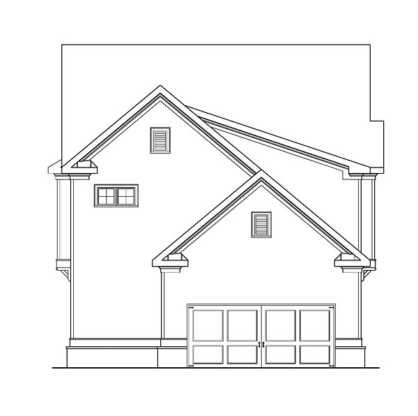 Country Craftsman Farmhouse Traditional House Plan 72654 Rear Elevation