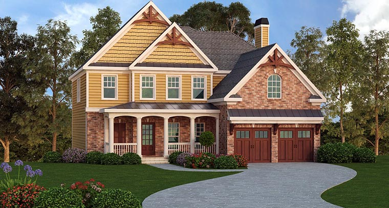 Country, Craftsman, Traditional House Plan 72655 with 4 Beds, 4 Baths, 2 Car Garage Elevation