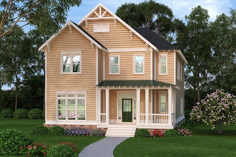 Country Craftsman Farmhouse House Plan 72656 Elevation
