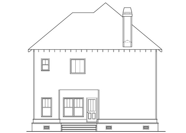 Country Craftsman Farmhouse House Plan 72656 Rear Elevation
