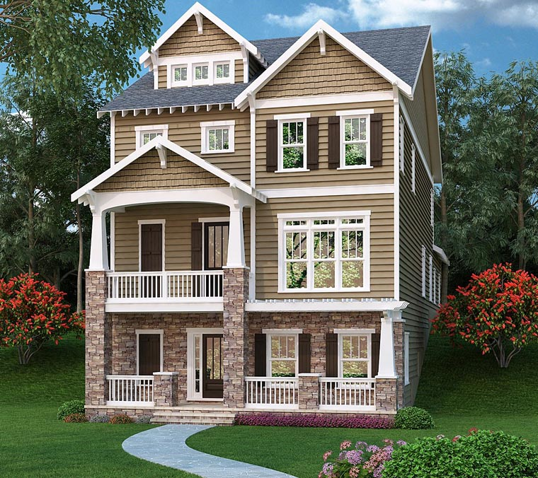 Coastal, Traditional House Plan 72659 with 3 Beds, 4 Baths, 2 Car Garage Elevation