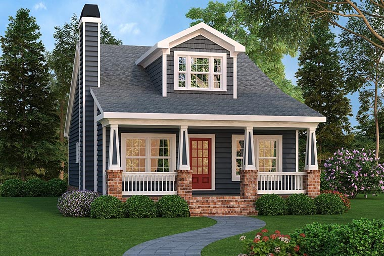 Bungalow Cottage Country Craftsman Southern House Plan 72660 Elevation