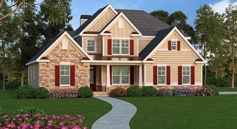 Southern, Traditional House Plan 72661 with 4 Beds, 4 Baths, 2 Car Garage Elevation
