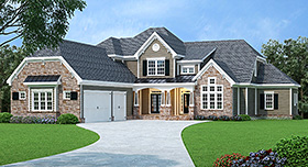 Traditional House Plan 72662 Elevation