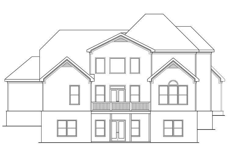 Traditional House Plan 72662 Rear Elevation