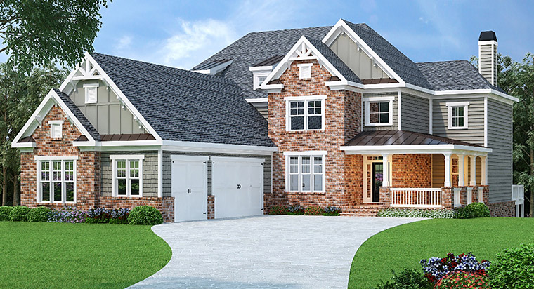 Country Craftsman Traditional House Plan 72666 Elevation