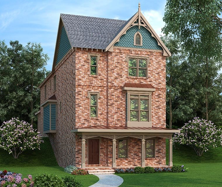 Country Craftsman Traditional Elevation of Plan 72667