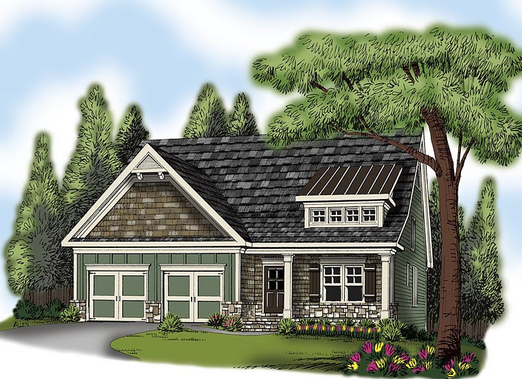 Cottage Country Craftsman Traditional House Plan 72669 Elevation