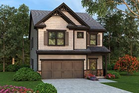 Traditional House Plan 72670 with 4 Beds, 3 Baths, 2 Car Garage Elevation