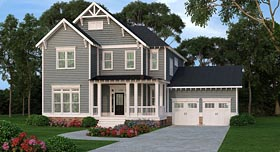 Country Craftsman Farmhouse House Plan 72671 Elevation