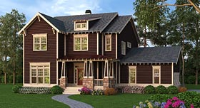 Country Craftsman Southern Traditional House Plan 72676 Elevation