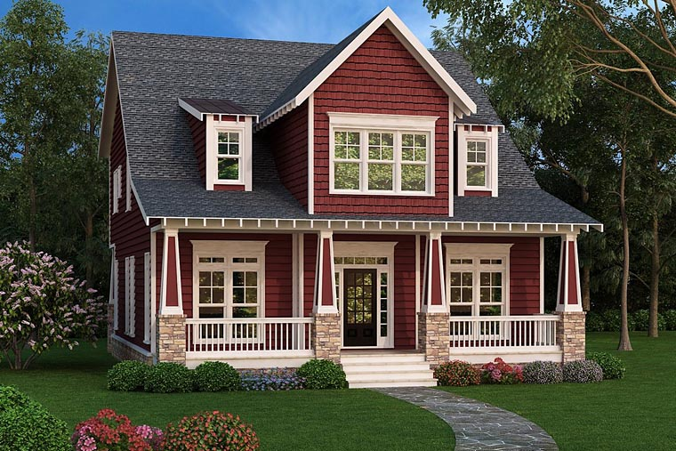 Bungalow Cape Cod Country Craftsman House Plan 72677 Elevation