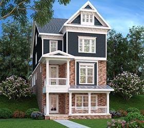 Coastal Craftsman Traditional House Plan 72678 Elevation