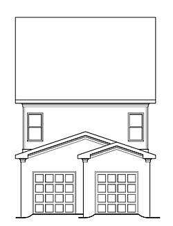Coastal Craftsman Traditional House Plan 72678 Rear Elevation