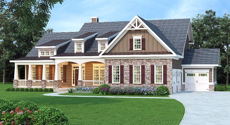 House Plan 72680 | Cape Cod Country Southern Traditional Style Plan with 3307 Sq Ft, 3 Bedrooms, 4 Bathrooms, 3 Car Garage Elevation