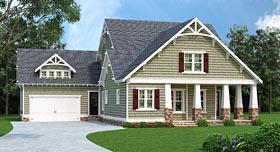 Cottage Country Craftsman House Plan 72681 Elevation