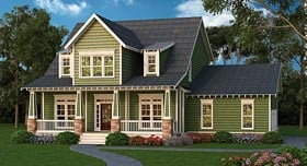 Bungalow , Cape Cod , Country , Craftsman House Plan 72682 with 4 Beds, 3 Baths, 3 Car Garage Elevation