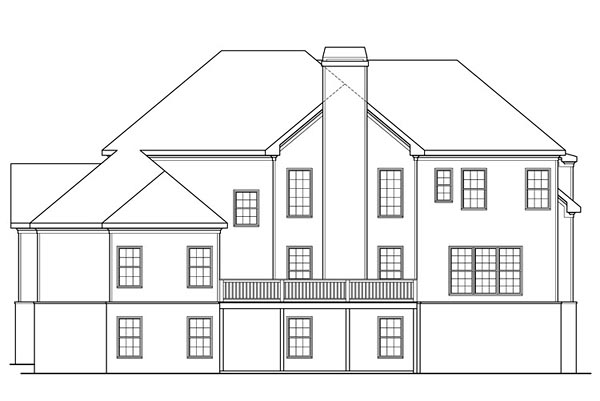 Colonial Southern House Plan 72683 Rear Elevation