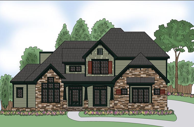 Craftsman Southern Traditional House Plan 72684 Elevation