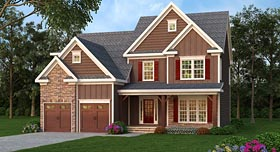 House Plan 72689 | Country Craftsman Farmhouse Style Plan with 2742 Sq Ft, 4 Bedrooms, 3 Bathrooms, 2 Car Garage Elevation