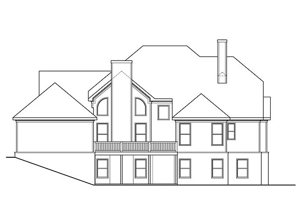 Southern Traditional House Plan 72690 Rear Elevation