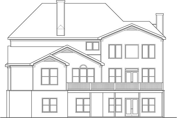 Southern Traditional House Plan 72692 Rear Elevation