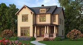 Bungalow Country Craftsman House Plan 72693 Elevation