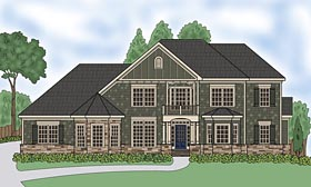 House Plan 72694 | Traditional Style Plan with 3894 Sq Ft, 4 Bedrooms, 5 Bathrooms, 3 Car Garage Elevation
