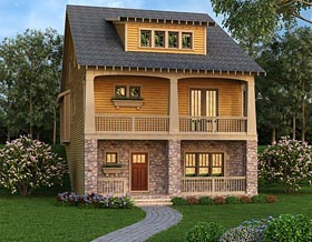 Coastal , Country , Southern House Plan 72695 with 3 Beds, 5 Baths, 3 Car Garage Elevation