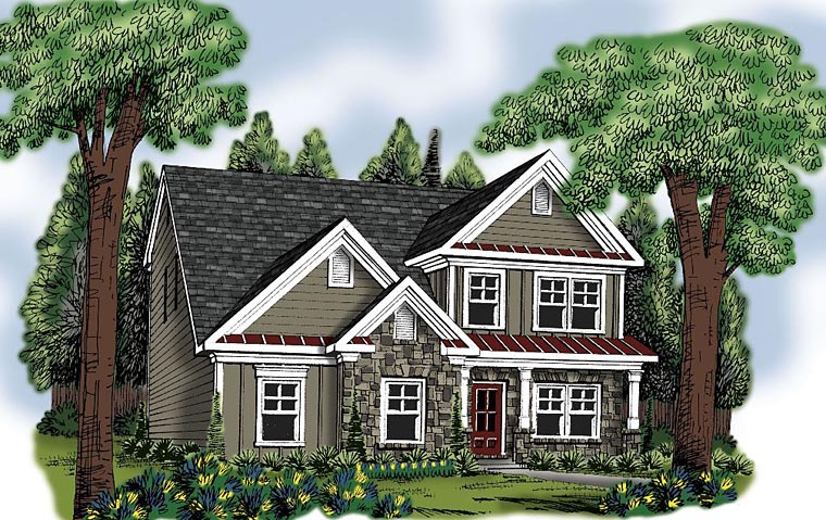 Traditional House Plan 72696 Elevation