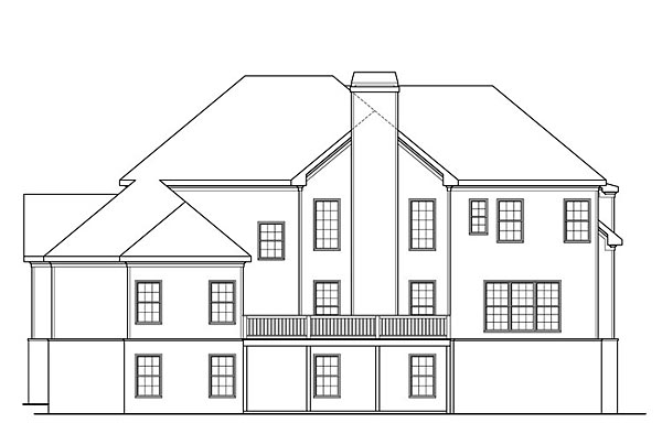 Traditional House Plan 72697 Rear Elevation