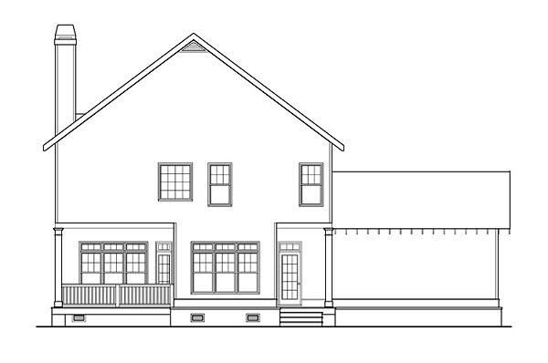 Country Craftsman Farmhouse Southern House Plan 72699 Rear Elevation