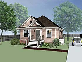 Bungalow House Plan 72700 with 3 Beds, 2 Baths Elevation