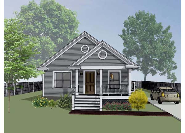 Bungalow House Plan 72702 with 3 Beds, 2 Baths Elevation
