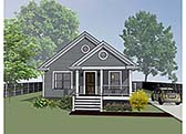 Plan Number 72702 - 1092 Square Feet