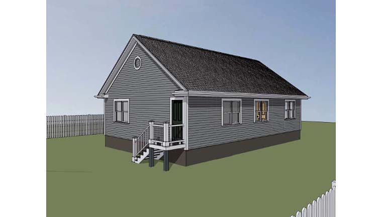 Bungalow House Plan 72702 with 3 Beds, 2 Baths Picture 1