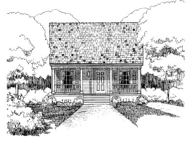 Bungalow House Plan 72703 Elevation