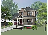 Plan Number 72705 - 1087 Square Feet