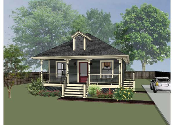 Bungalow , Elevation of Plan 72708