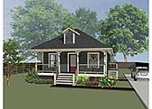 Plan Number 72708 - 1056 Square Feet